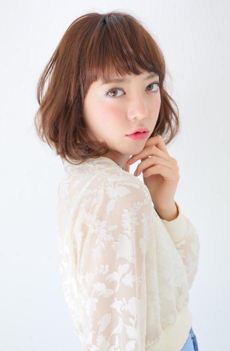 永作博美さん風柔らかボブでカジュアルフェミニン写真